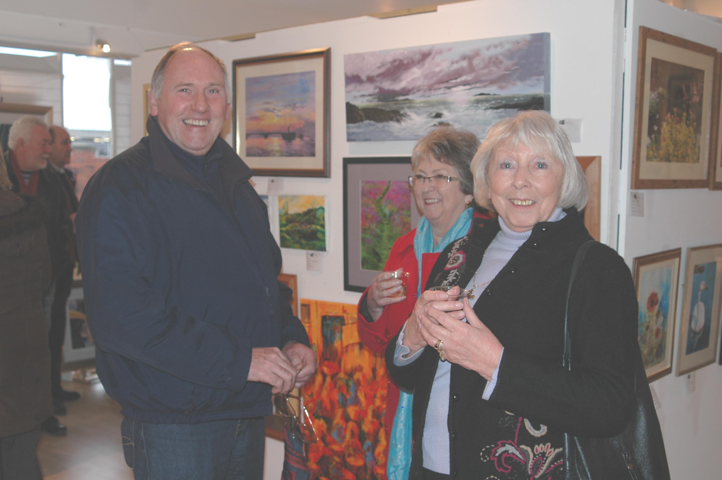 members attending one of their exhibitions